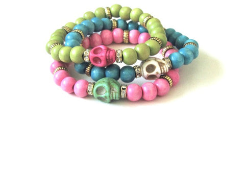 Neon Cantina Skull Stack