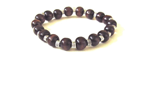 Mahogany Wood Men's Bracelet