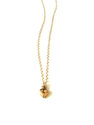 Tiny Heart Necklace in Gold