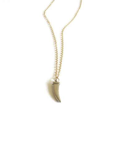 Mix Metal Horn Necklace