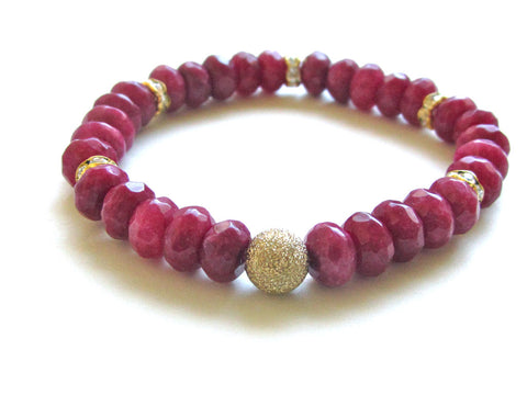 Ruby Jade Gold Dust Bracelet