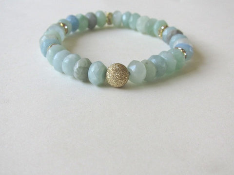 Mint Jade Gold Dust Bracelet