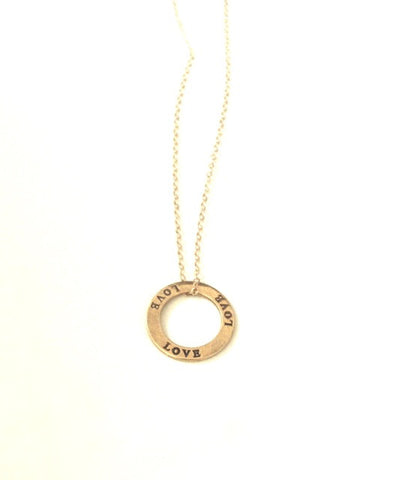 Infinite Love Necklace in Gold