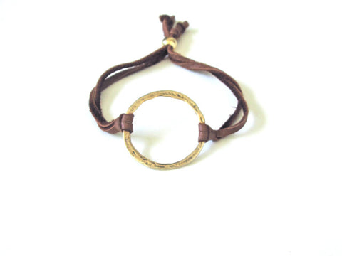Leather Karma Bracelet