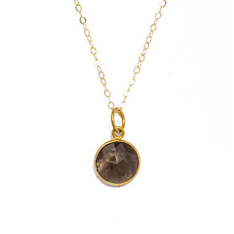 Gemstone Necklace in Smokey Quartz