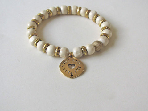 Light Wood Love Life Bracelet