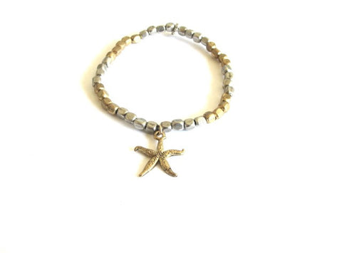 Metallic Starfish Bracelet