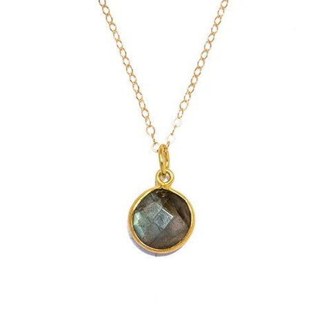 Gemstone Necklace in Labradorite