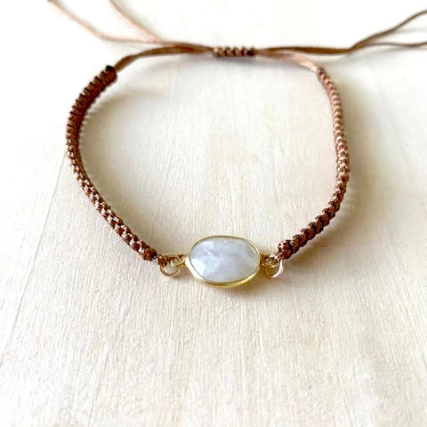 Moonstone Thread Bracelet
