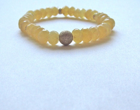 Yellow Jade Gold Dust Bracelet