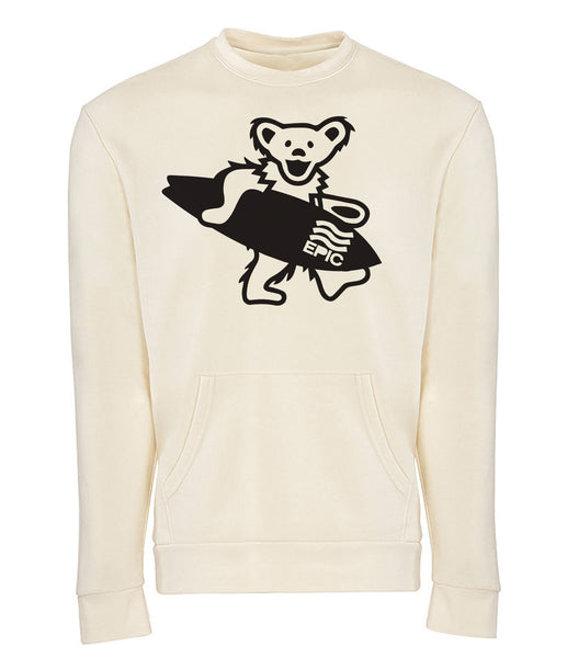 frothing bear pocket pullover crew