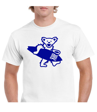 frothing bear white s/s tee