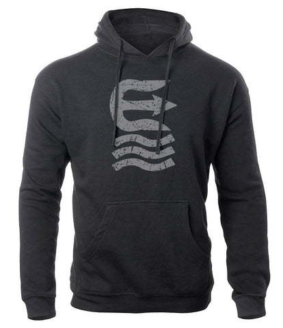 scuffed trident pullover adult hoodie