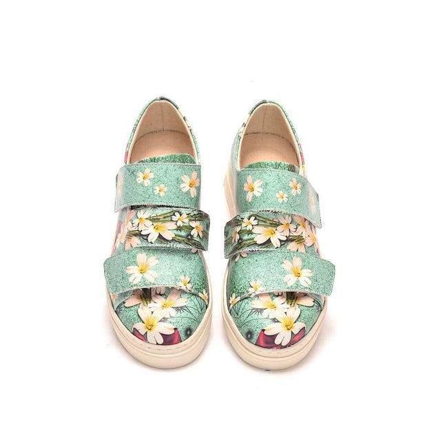 Flowers Slip on Sneakers Shoes NAC102 - Goby NEEFS Slip on Sneakers Shoes