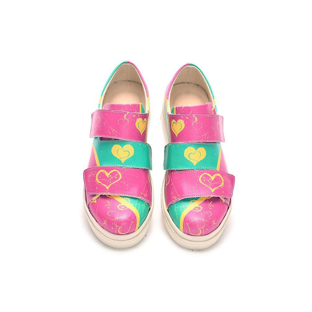 Hearts Slip on Sneakers Shoes NAC108