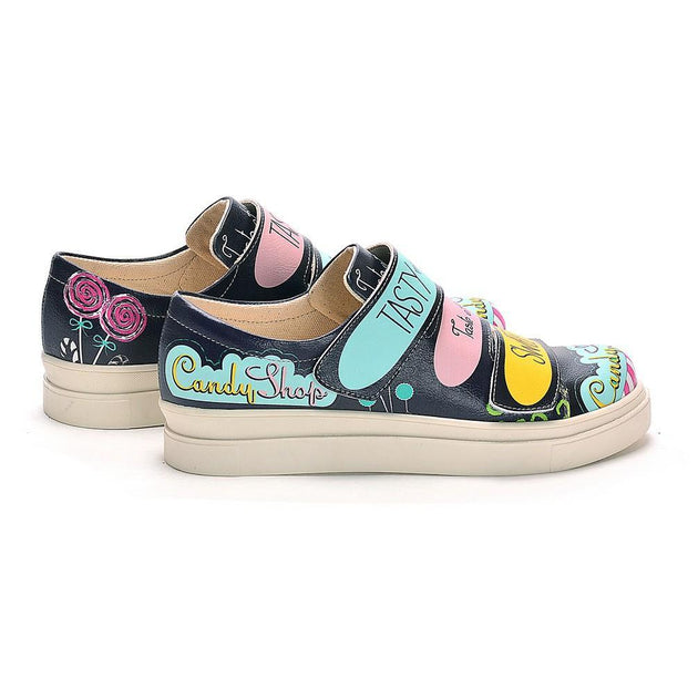 Candy Shop Slip on Sneakers Shoes NAC109, Goby, NEEFS Slip on Sneakers Shoes