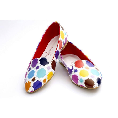 Colored Dots Ballerinas Shoes NBL219, Goby, NEEFS Ballerinas Shoes