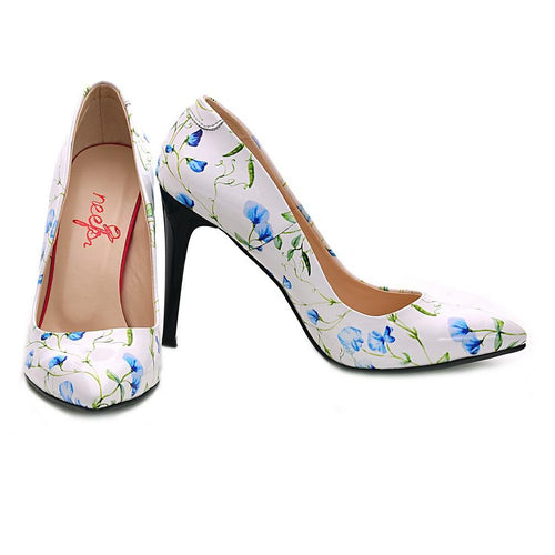 Flowers Heel Shoes NBS108 - Goby NEEFS Heel Shoes
