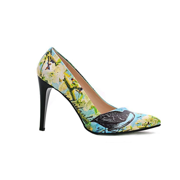Flowers Heel Shoes NBS202 - Goby NEEFS Heel Shoes