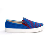 Red and Blue Squares Slip on Sneakers Shoes NFS604