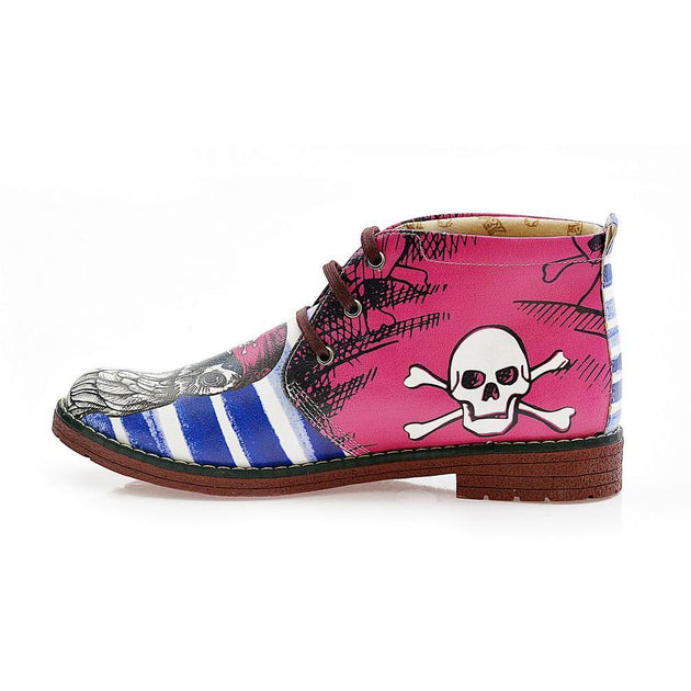 Pirate Owl Ankle Boots NHP103
