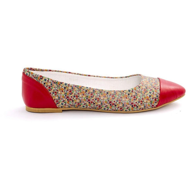 Pattern Ballerinas Shoes NMS103