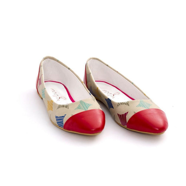 Pattern Ballerinas Shoes NMS107