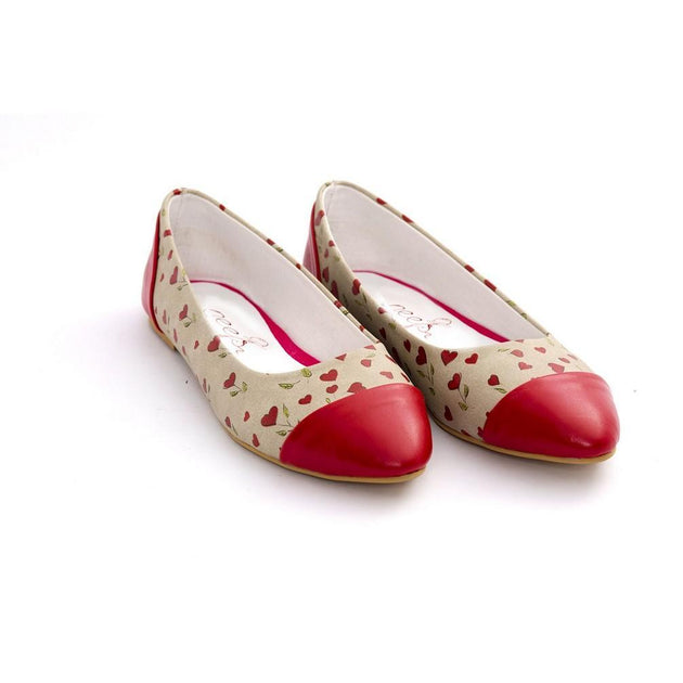 Hearts Ballerinas Shoes NMS109