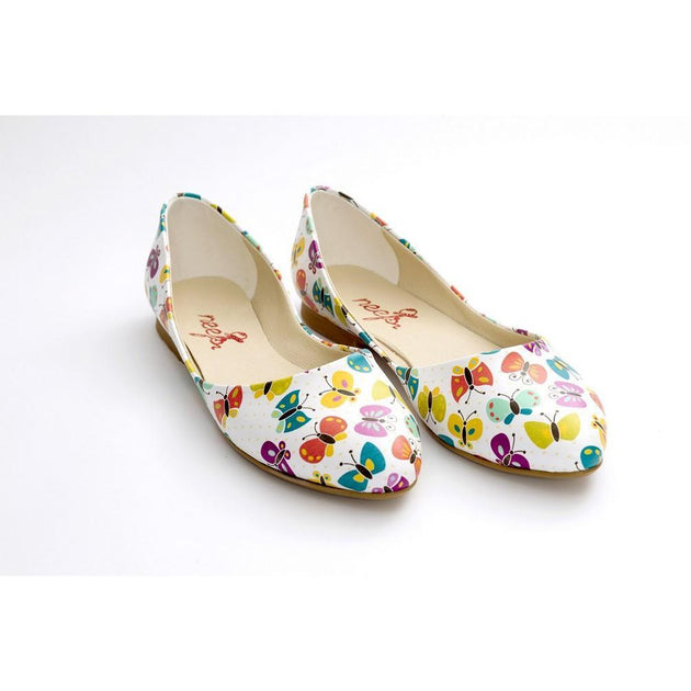 Butterfly Ballerinas Shoes NSS354, Goby, NEEFS Ballerinas Shoes
