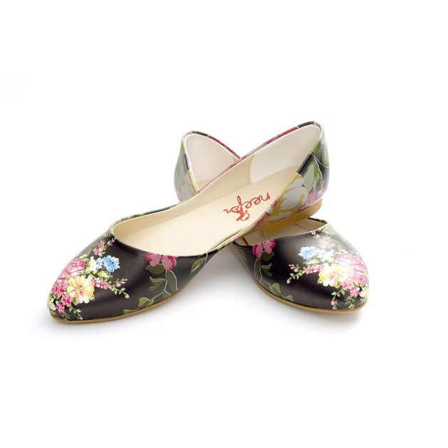 Flowers Ballerinas Shoes NSS356 - Goby NEEFS Ballerinas Shoes