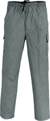 Drawstring Poly Cotton Cargo Chef Pants