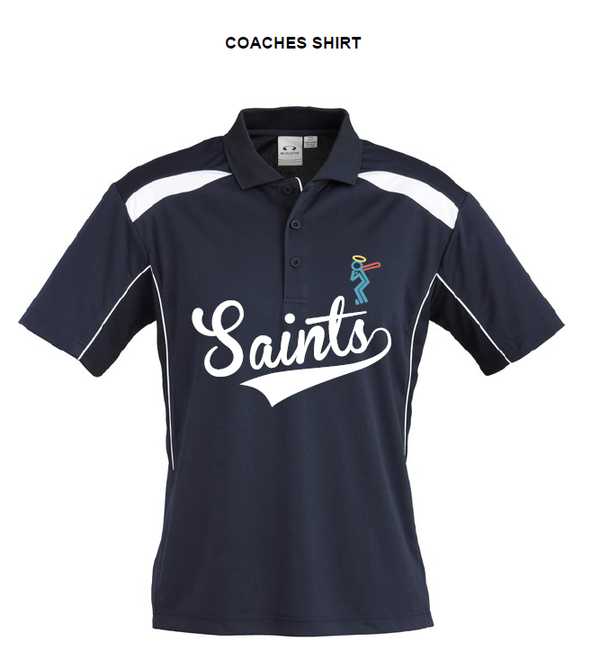 Saints Softball Mens United Short Sleeve Polo - Coach