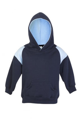Kids Shoulder Contrast Panel Hoodie