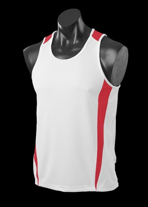 White/Red Eureka Singlet