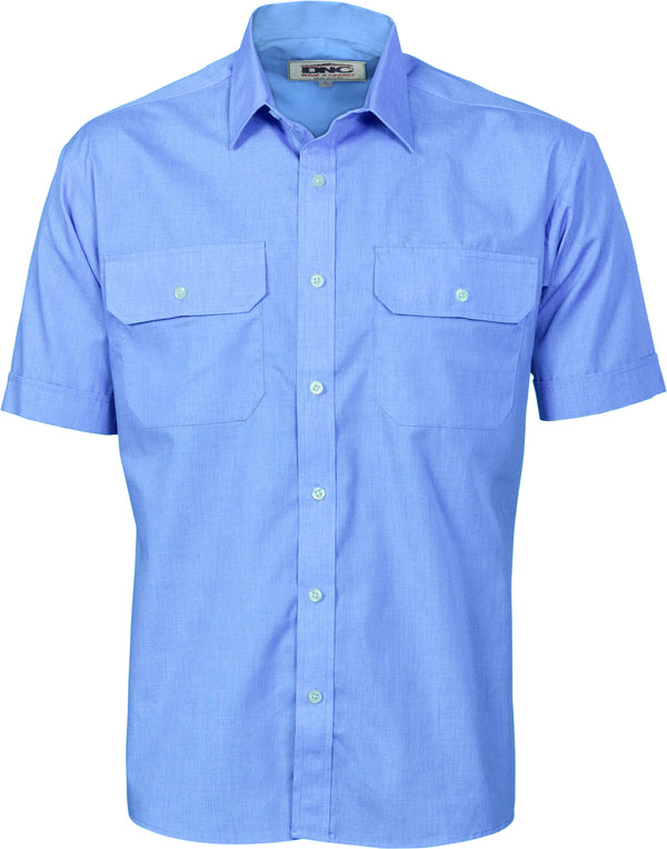 Polyester Cotton Short Sleeve Work Shirt