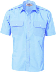 Epaulette Polyester/Cotton Short Sleeve Work Shirt
