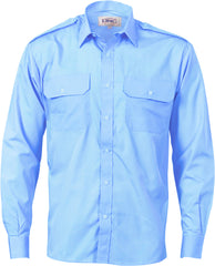 Epaulette Polyester/Cotton Long Sleeve Work Shirt