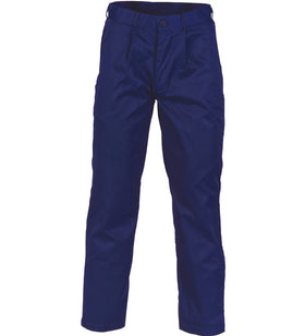 DNC Polyester Cotton Pleat Front Work Pants - Regular/Stout