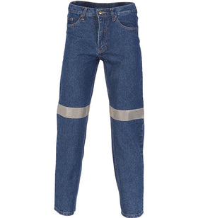 DNC Mens Denim Jeans with 3M Tape - Regular/Stout