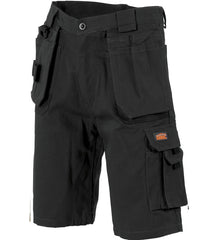 DNC Duratex Cotton Duck Weave Tradies Cargo Shorts - With Twin Holster Tool Pocket