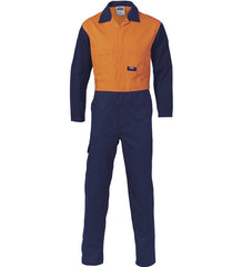 DNC Mens Patron Saint Flame Retardant Two Tone Drill Overalls - Regular/Stout
