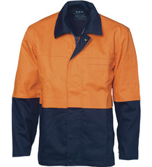 DNC Mens Patron Saint Flame Retardant Two Tone Drill Welder's Jacket