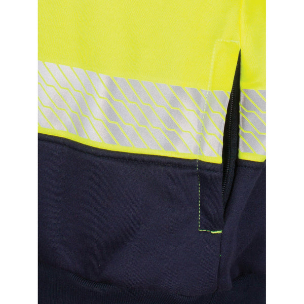 HIVIS Segment Taped 1/2 Zip Fleecy Windcheater