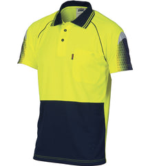 DNC HiVis Cool-Breathe Sublimated Piping S/S Polo