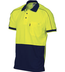 DNC HiVis Cool-Breathe Double Piping S/S Polo