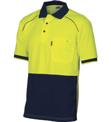DNC HiVis Cool-Breathe front Piping S/S Polo