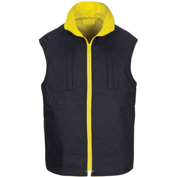 HiVis Cotton Drill Reversible Vest with Generic R/Tape
