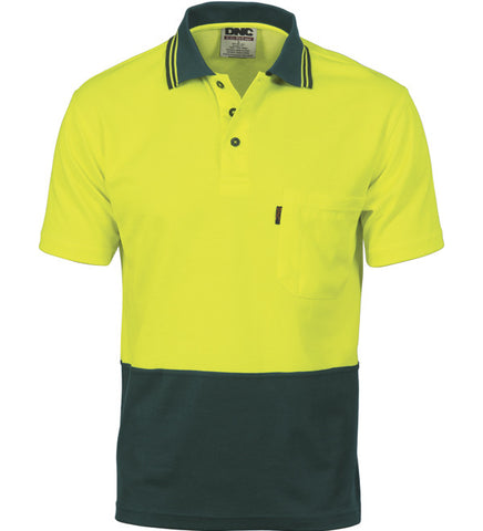 Picture of DNC Cotton Back HiVis Two Tone Short Sleeve Fluoro Polo