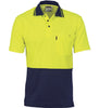 DNC Cotton Back HiVis Two Tone Short Sleeve Fluoro Polo