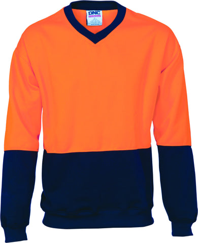 Picture of HiVis Two Tone Fleecy Sweat Shirt V-Neck